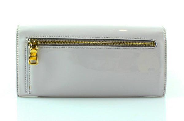 Miu Miu Vernice Lilium Flap Button Down Wallet 5M1009