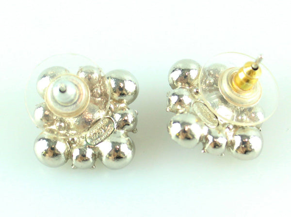 Chanel Diamante Baroque Style Stud Earrings 2009