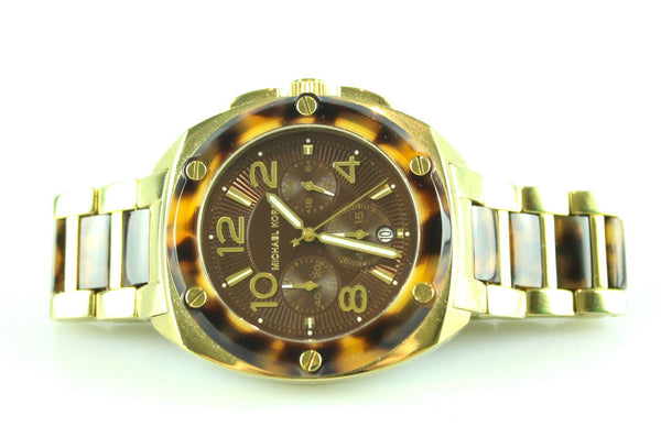 Michael Kors MK5593 Tribeca Tortoise Gold Tone Watch