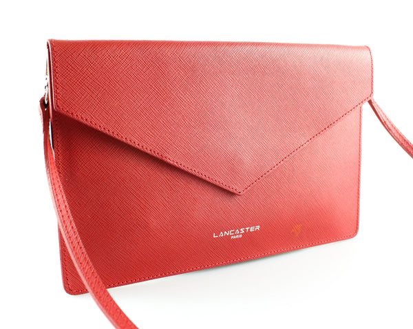 Lancaster Red Envelope Leather Thin Messenger