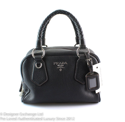 Prada Bliack Calf Leather Bauletto Small 2006