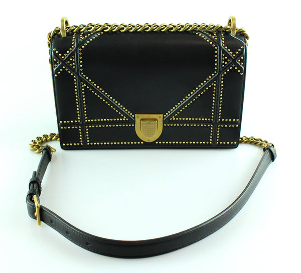 Christian Dior Diorama Medium With Studs Black Lambskin (RRP €3000)/