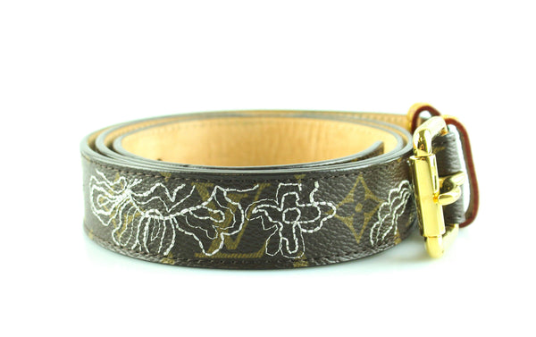Louis Vuitton Monogram Canvas Limited Edition Dentelle Belt 95/38 CA0017