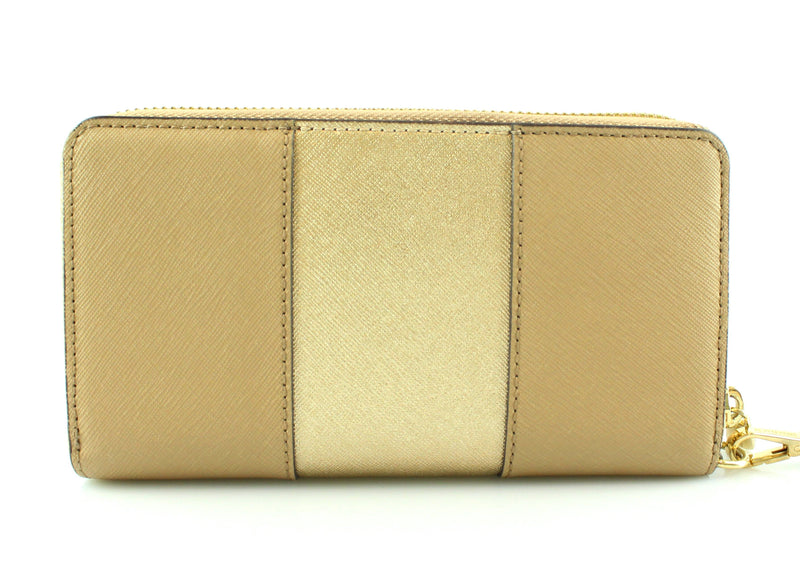 Michael Kors Beige And Gold Tech Wristlet