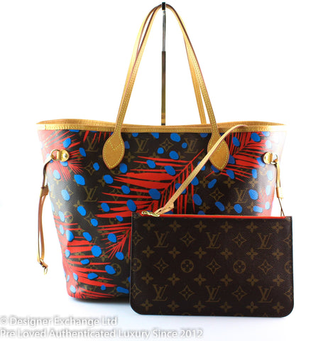 Louis Vuitton Limited Edition Denim Blue Monogram Jungle Canvas Neverfull MM AR0186