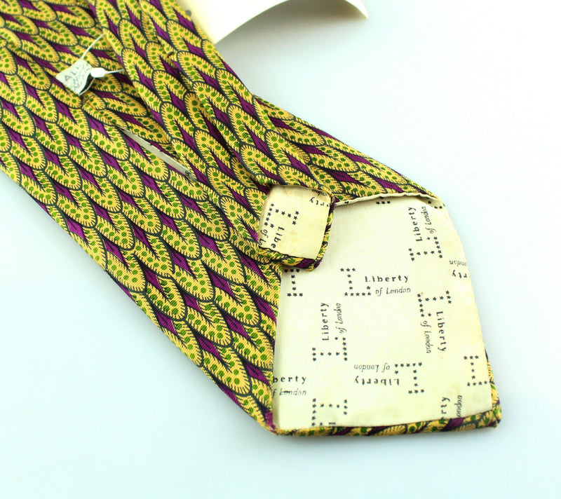 Liberty Of London Purple And Yellow Tie