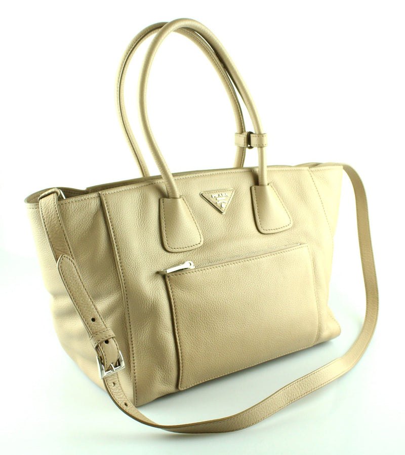 Prada Cammeo Leather Tote SH