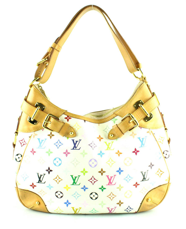 Louis Vuitton White Multicolour Greta Hobo CA4068 (2)
