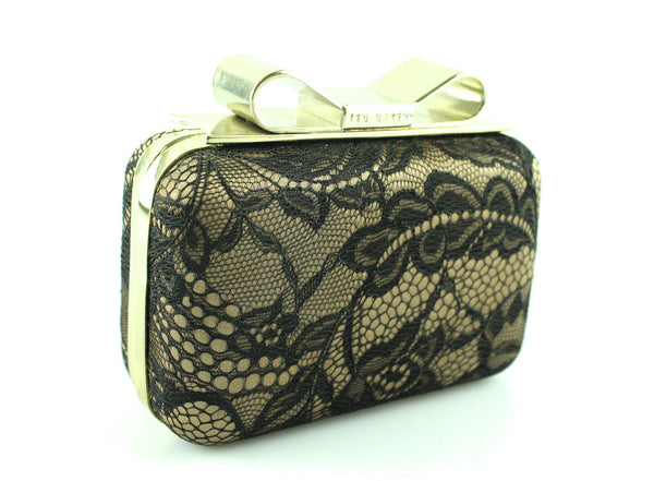 Ted Baker Lace Detail Box Clutch With Chain