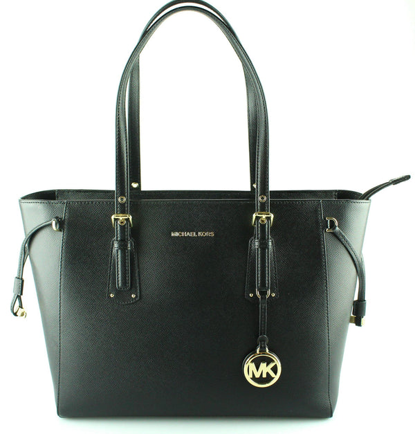 Michael Kors Black Leather Medium Voyager RRP €285