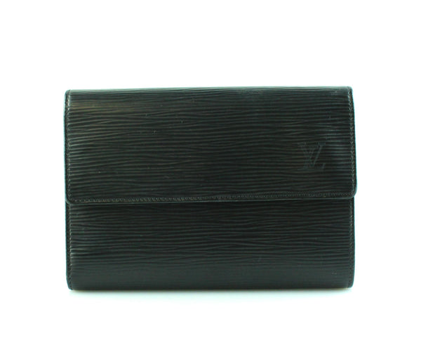 Louis Vuitton Black Epi Leather Medium Porte Tresor Wallet