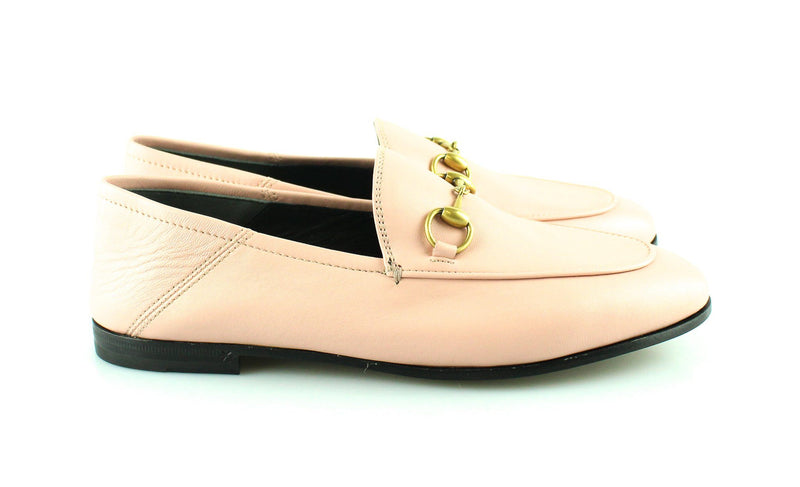 Gucci Baby Pink Leather Jordaan Loafer 36.5/3.5 RRP €595
