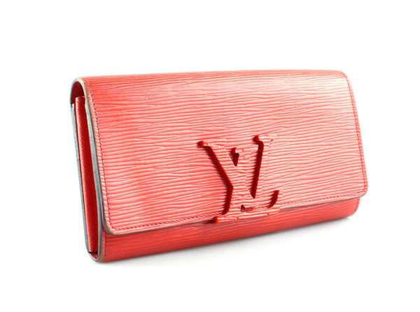 Louis Vuitton Red Epi Leather Louise Wallet CA5115