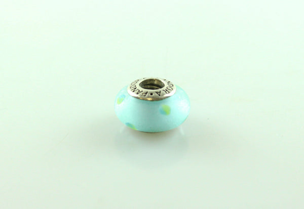 Pandora Blue Dot Murano Glass Charm