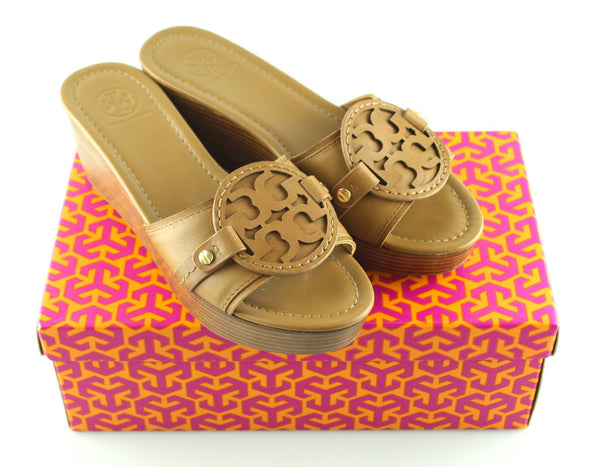 Tory Burch Royal Tan Madalena 70mm Wedge UK 6
