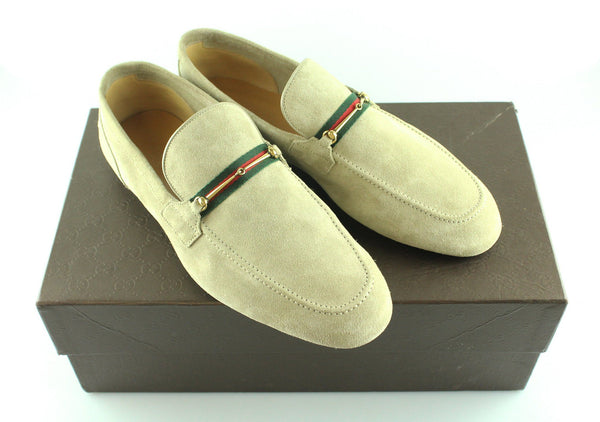 Gucci Men's Suede Horsebit  Loafers UK 8
