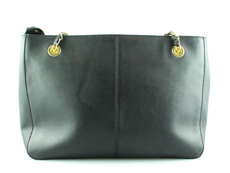 DKNY Black Saffiano Zipped Chain Tote GH