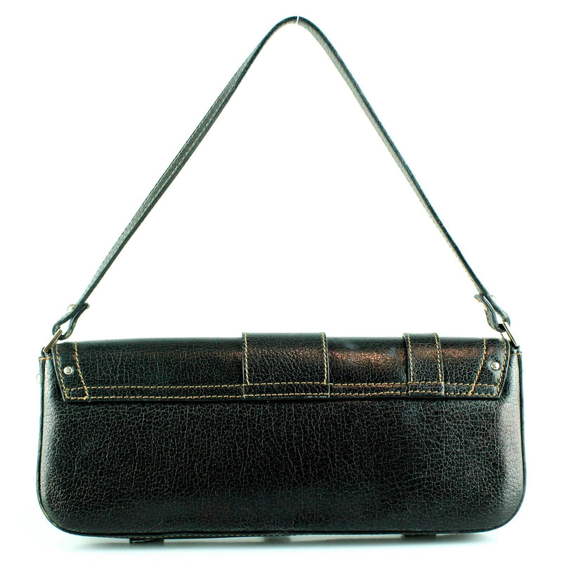 D&G Black Buckle Feature Clutch/Shoulder Bag