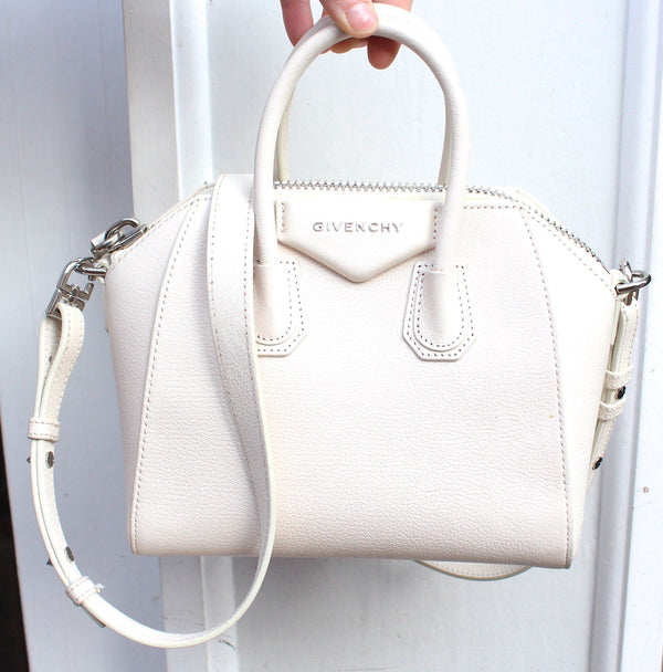 Givenchy Cream Grained Leather Mini Antigona RRP €1290