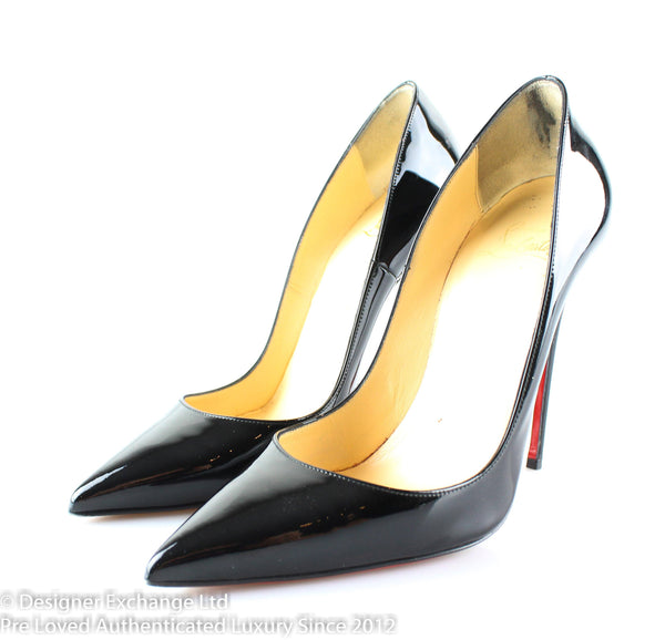 Christian Louboutin So Kate 120 Black Patent Heels 37.5/4.5 RRP €575