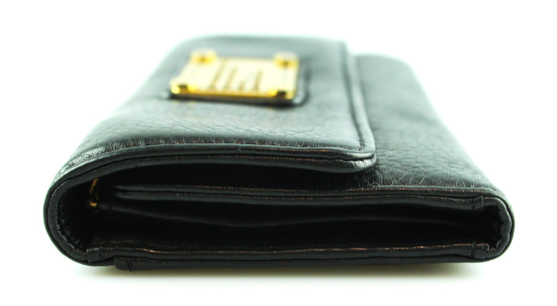 Marc By Marc Jacobs Black Workwear Flap Wallet