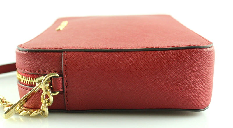 Michael Kors Red Saffiano Jet Set Chain Cross Body