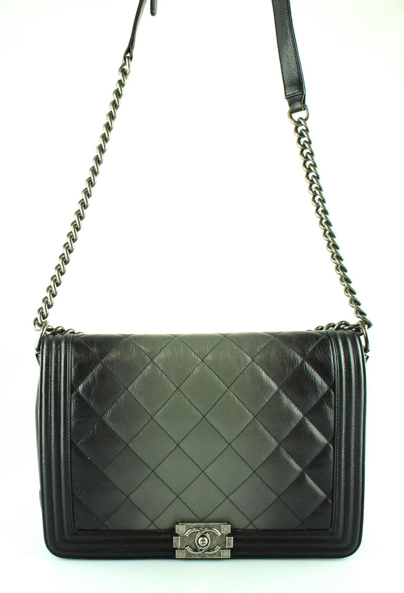 Chanel Ombre Large Boy Bag Quilted Glazed Calfskin 2013/14