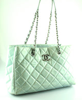 Chanel Spearmint 2014/15 Seasonal Glazed Calf Shopper