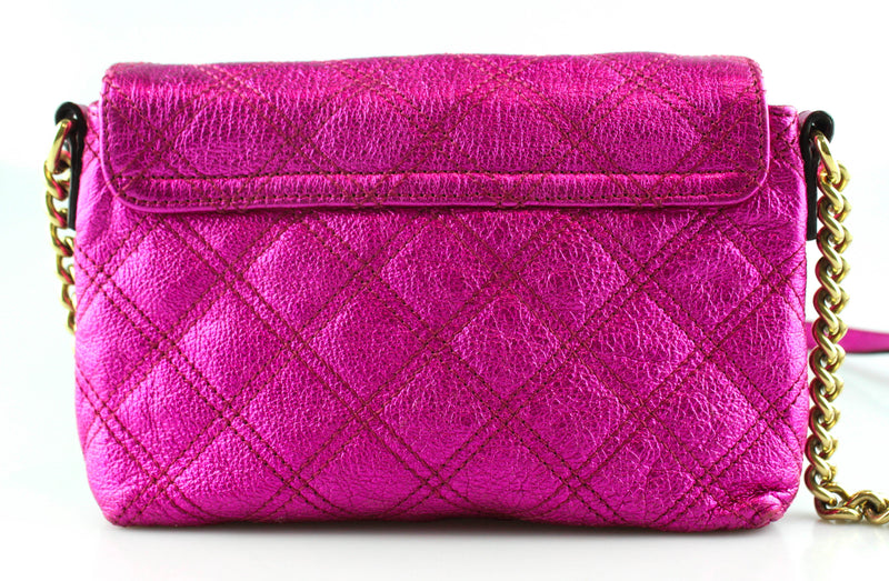 "Marc Jacobs Metallic Pink ""The Single"" Quilted Crossbody GH"