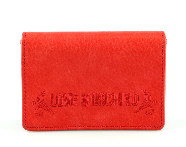 Love Moschino Red Mini Coin And Card Case
