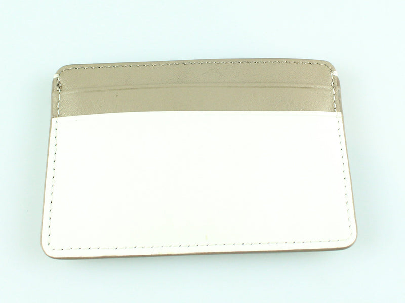 DKNY Taupe/White Card Holder