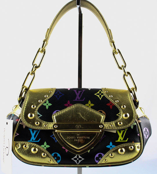 Louis Vuitton Marilyn Black Multicolour Gold Trim