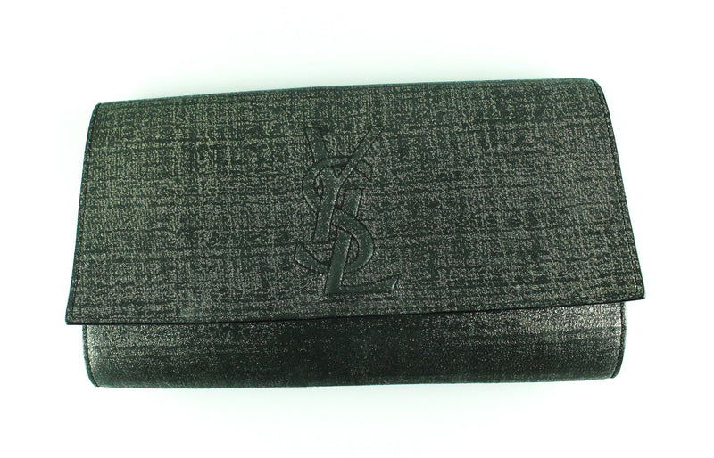 YSL Dark Grey Belle Du Jour Clutch