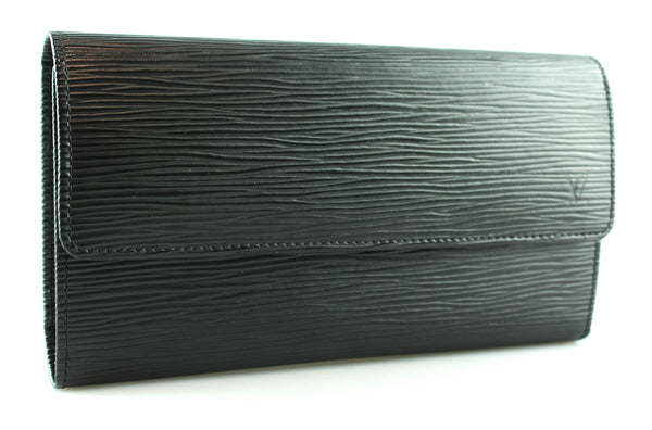 Louis Vuitton Black Epi Leather Long Wallet AR0094