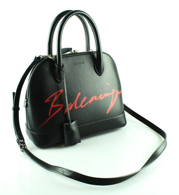 Balenciaga Ville Lipstick Medium Tote Black/Red RRP €1590
