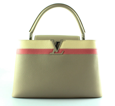 Louis Vuitton Ltd Edition Capucines MM Taurillon Galet (RRP €4050)