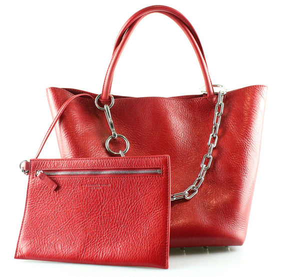 Alexander Wang Red Pebbled Leather Roxy Tote 2