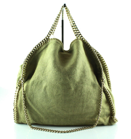 Stella McCartney Khaki Canvas Falabella Triple Chain GH 102da7fccd3bb