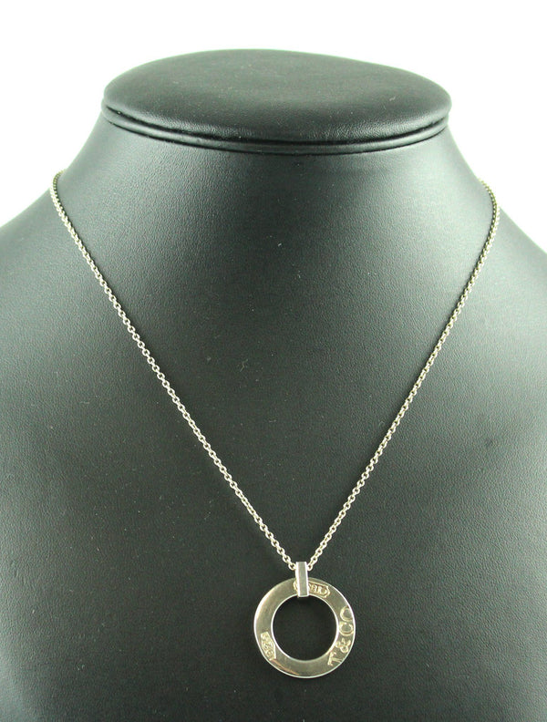 Tiffany & Co. 1837 925 Disc Pendant On Snake Chain