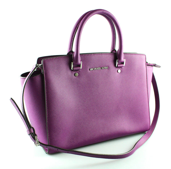 Michael Kors Purple Saffiano Selma With Strap SH