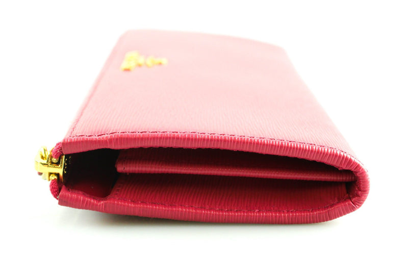 Prada Peonia Vitello Move Long Zip Wallet