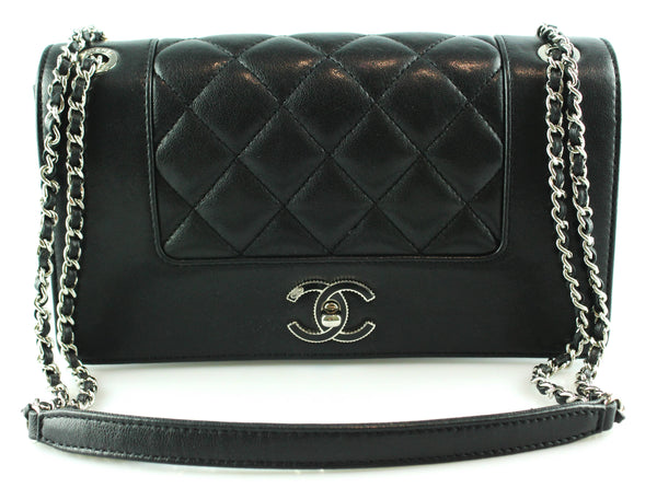 20193d9b3e39b1 Chanel Black Vintage Mademoiselle Flap Bag 2017 – Designer Exchange Ltd