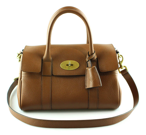 Mulberry Small Bayswater Satchel Oak Classic Grain GH 9e31f7148ee09