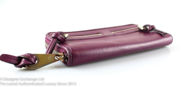 Mulberry Violet Zip Around Mable Wallet