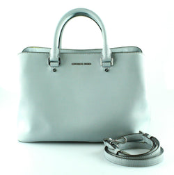Michael Kors Powder Blue Saffiano Savannah Large