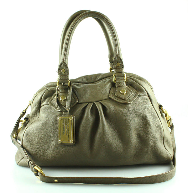 Marc By Marc Jacobs Taupe Leather Classic Q Baby Adian Hobo GH