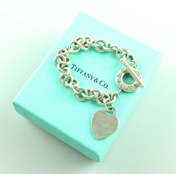 Tiffany & Co. 925 RTT Heart Tag Toggle Bracelet RRP €490