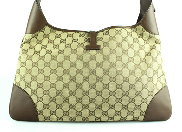 Gucci Jackie GG Monogram Canvas/Brown Leather