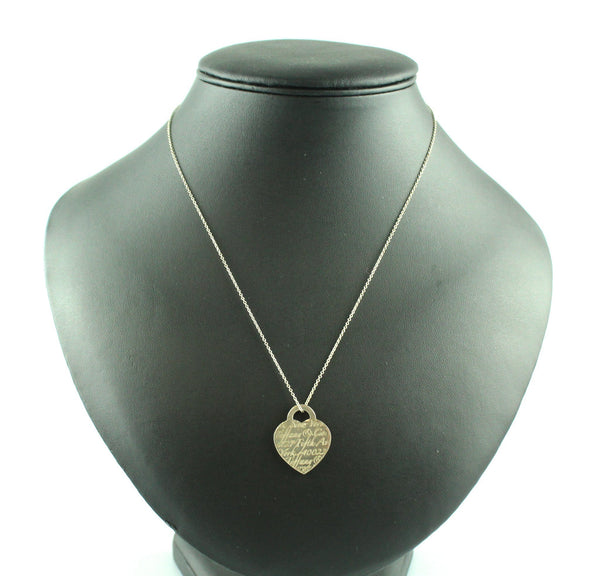 Tiffany & Co. 925 Fifth Avenue Heart Pendant Necklace