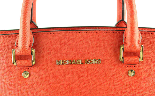 Michael Kors Orange Saffiano Selma With Long Strap GH